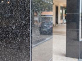 coluna granito marmore preto -black marble column – gra2003 granite portugal