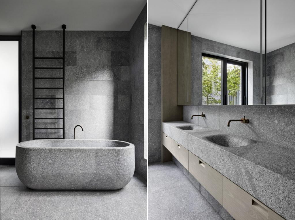 modern granite bathroom