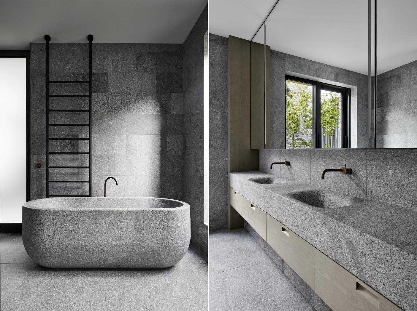 granito casa de banho moderna