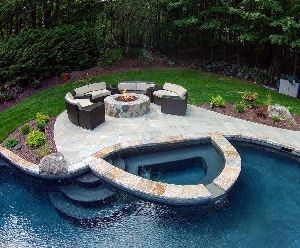 granito na piscina