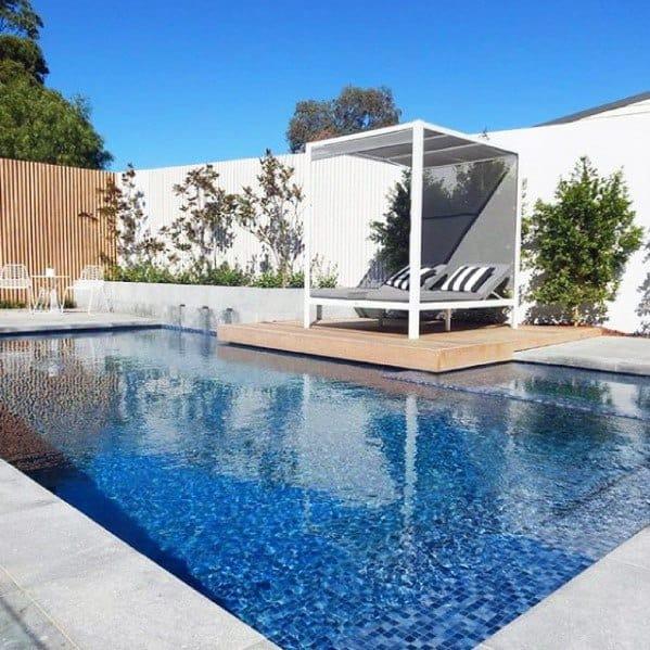 piscinas modernas com granito