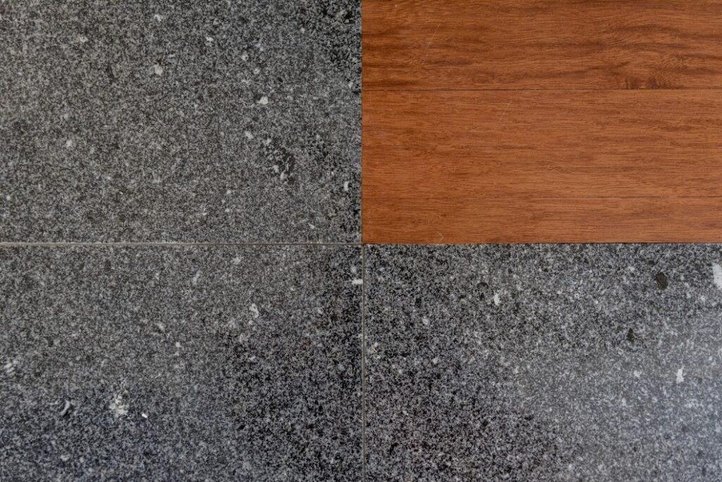 pavimento em granito preto